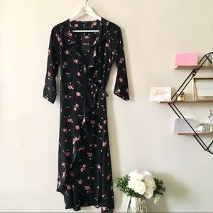 Forever 21 Floral Wrap Dress NWT